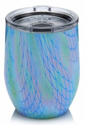 16oz Stemless- Mermaid Scales